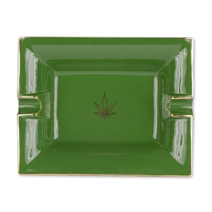 Casacarta Large Ashtray And Change Tray - Leaf Green