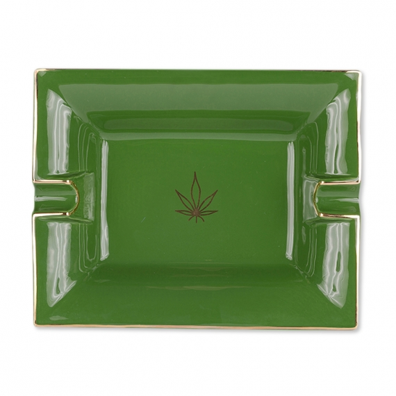 Large Ashtray and Change Tray - Leaf