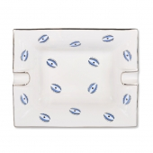 Casacarta Large Ashtray And Change Tray - Evil Eye White