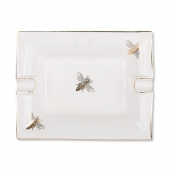 Casacarta Large Ashtray And Change Tray - White Bee White