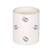 Casacarta Small Candle - Evil Eye White