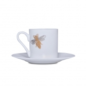 Casacarta Espresso Cup And Saucer - Bee White