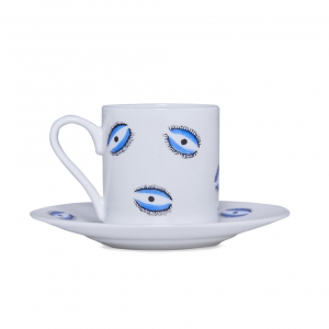 Casacarta Espresso Cup And Saucer - Eye White