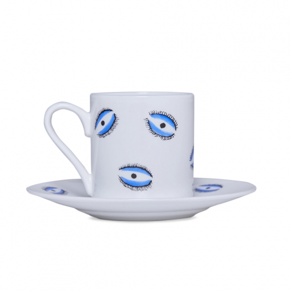 Espresso Cup and Saucer - Eye