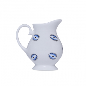 Casacarta Milk Jug - Evil Eye White
