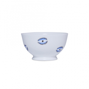 Casacarta Sugar Bowl - Evil Eye White
