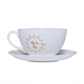 Casacarta Teacup And Saucer - Sun White