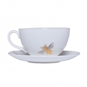 Casacarta Teacup And Saucer - Bee White