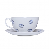 Casacarta Teacup And Saucer - Eye White