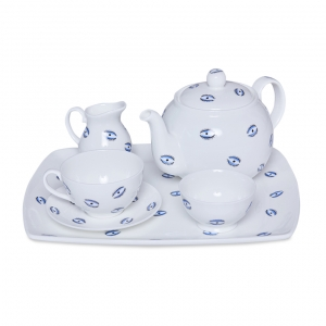 Casacarta Tea Set - Evil Eye White