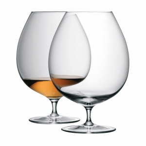 LSA International Bar Brandy Glass Clear Set of 2