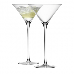 LSA International Bar Cocktail Glass Clear Set of 2