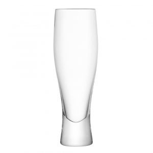 LSA International Bar Lager Glass Clear Set of 4
