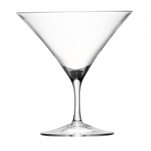 LSA International Bar Martini Glass Clear Set of 12
