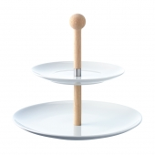 Dine Tiered Cakestand & Oak Stem