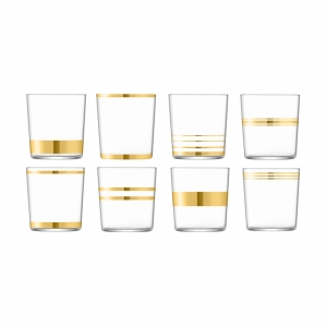 LSA International Deco Tumbler Gold Set of 8