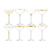 LSA International Deco Champange Saucer Gold Set of 16