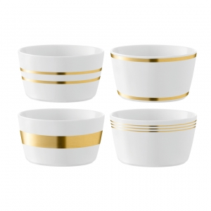 LSA International Deco Bowl Gold Set of 4