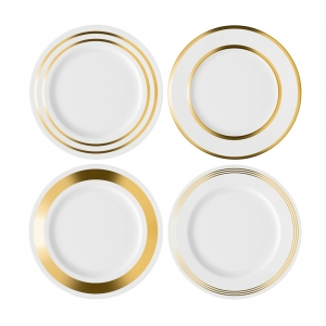 LSA International Deco Dinner Plate Gold Set of 4