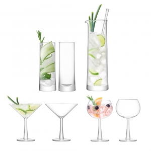 LSA International Gin Cocktail Set Set of 2 Clear