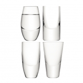 LSA International Lulu Vodka Glass Clear Set of 4