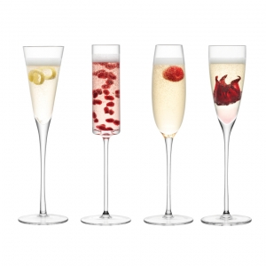 LSA International Lulu Champagne Flute Clear Set of 12