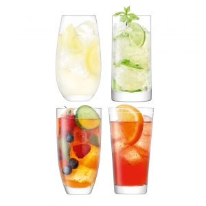 LSA International Lulu Highball Clear Set of 16