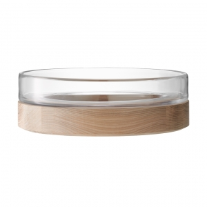 LSA International Lotta Bowl & Ash Base Set of 2 Clear
