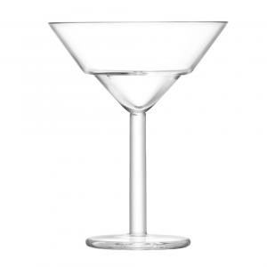 LSA International Mixologist Cocktail Martini Glass Clear Set of 2