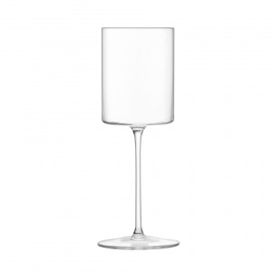 LSA International Otis White Wine Glass Clear Set of 4