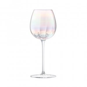 LSA International Pearl White Wine Glass Multi Color Set of 4