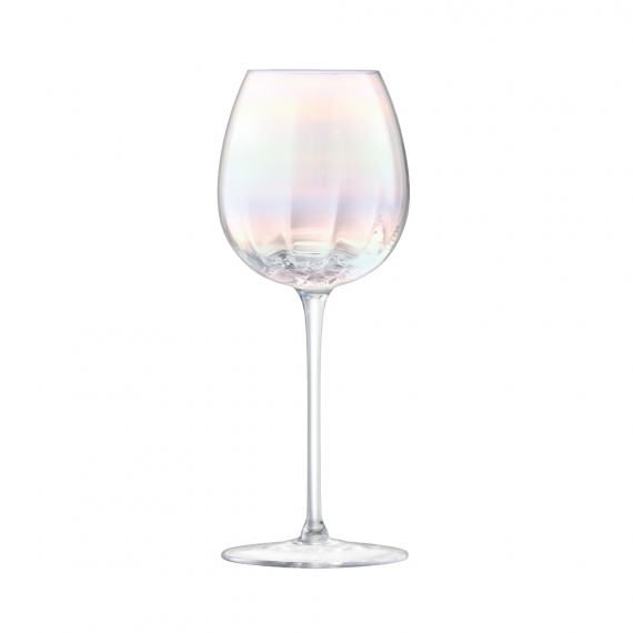 Pearl White Wine Glass Set of 12