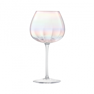 LSA International Pearl Red Wine Glass Multi Color Set of 4