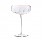 LSA International Pearl Champagne Saucer Multi Color Set of 4