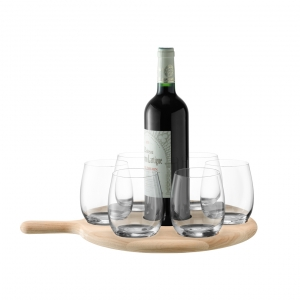 Paddle Water/Wine Serving Set & Oak Paddle