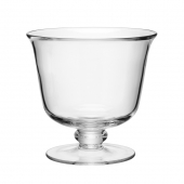 LSA International Serve Tall Comport and Serving Bowl and Dish Set of 4 Clear