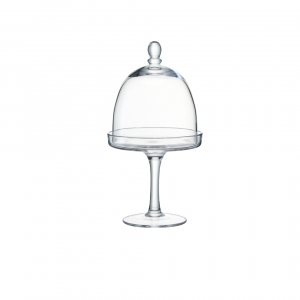 LSA International Serve Stand & Dome Set of 3 Clear
