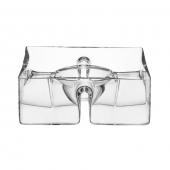 LSA International Serve Square Platter Set of 3 Clear