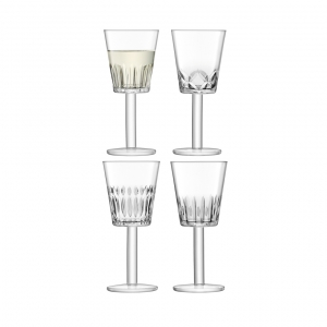 LSA International Tatra Wine Glass Clear Set of 4