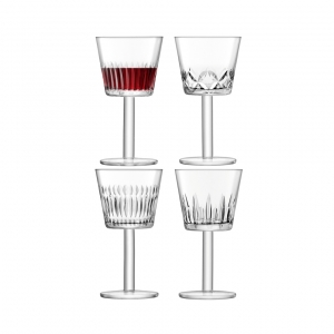 LSA International Tatra Wine Goblet Clear Set of 4