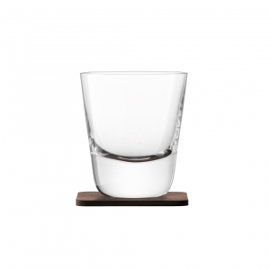 LSA International Whisky Arran Tumbler and Walnut Coaster Clear Set of 2