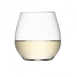 LSA International Wine Stemless White Wine Glass Clear Set of 4
