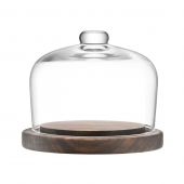 LSA International City Dome & Walnut Base