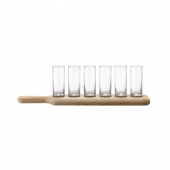 LSA International Paddle Shot Set & Oak Paddle Set of 4