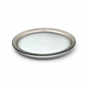 Annie Glass Roman Antique Dessert Plate Silver