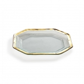 Annie Glass Roman Gold Antique Steak Platter