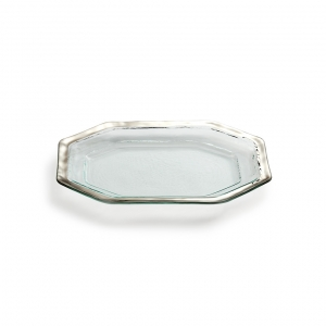 Annie Glass Roman Silver Antique Steak Platter