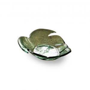 Annie Glass Leaves Large Palm Frond Bowl
