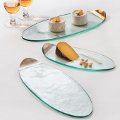 Annie Glass Mod Gold Cheese Board