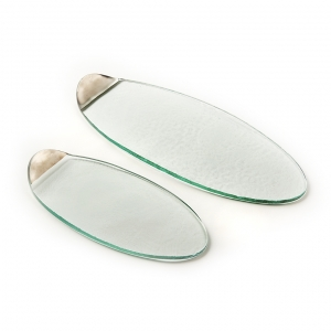 Annie Glass Mod Silver Cheese Board